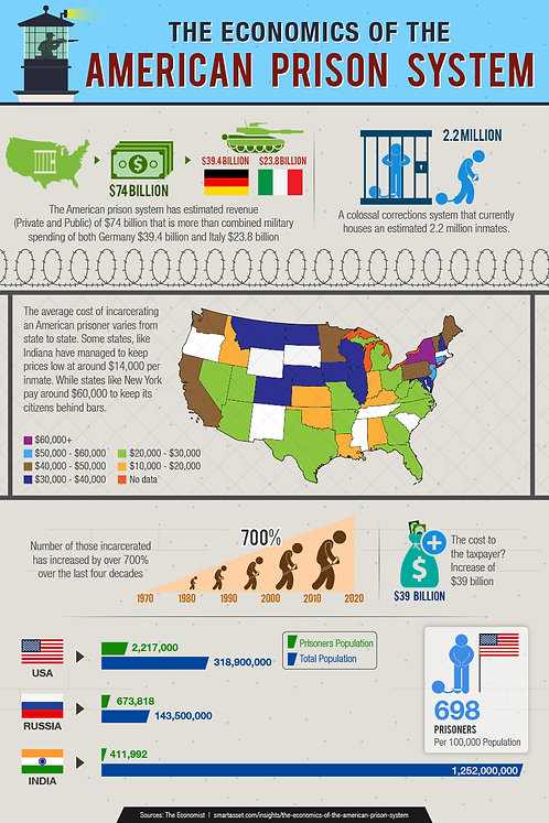 The Economics of the American Prison System Infographic