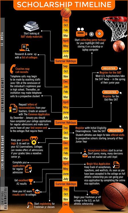 Scholarship Timeline Infographic