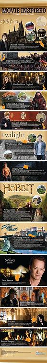 Movie Inspired Travel Destinations Infographic