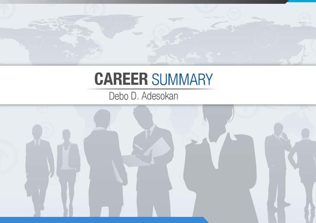 Career Summary Debo D. Adesokan Brochures