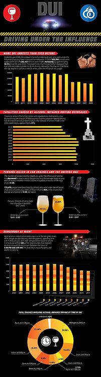 DUI Drving Under the Influence Infographic