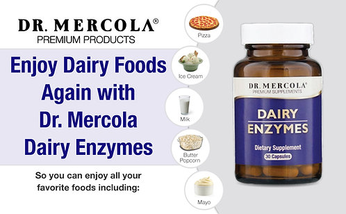 Dairy Enzymes Dietary Supplements Infographics for Amazon