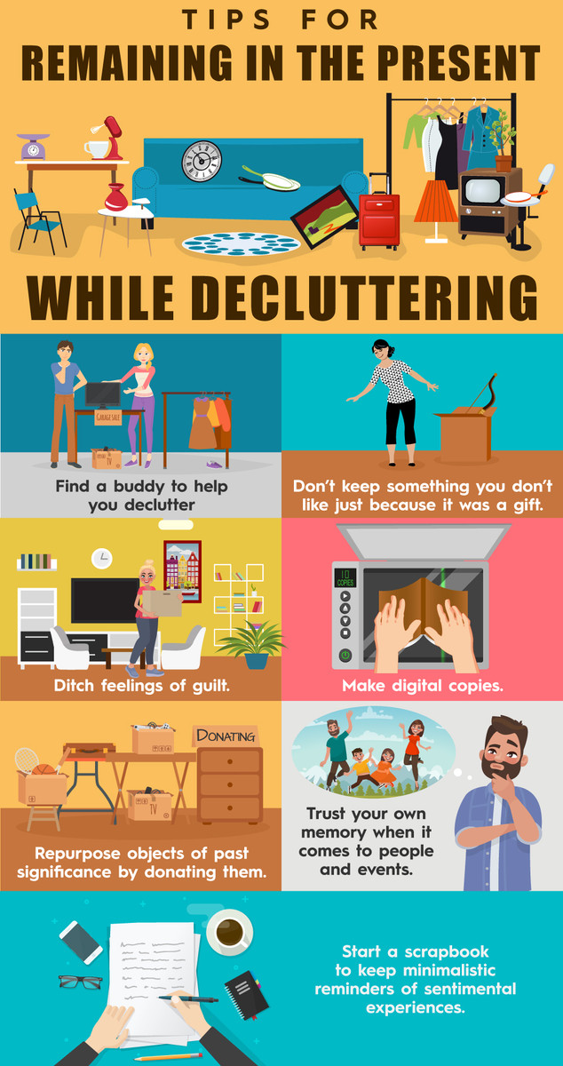 Tips for Remaining in the Present while Delucttering