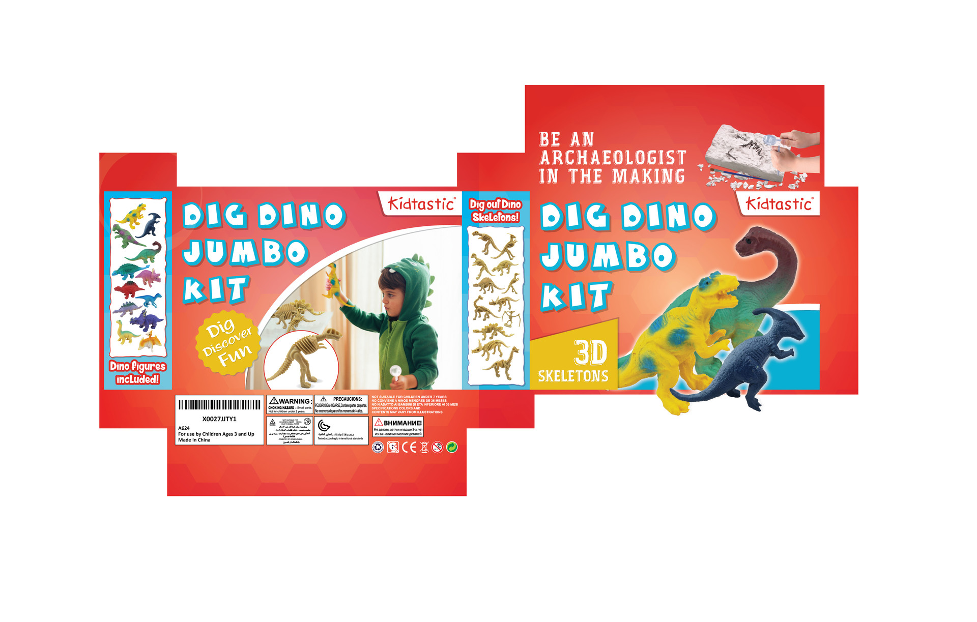 Kidtastic Dig Dino Jumbo Kit Smaller - 2