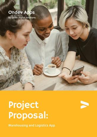 Yellow Professional Gradient App Development Business Proposal