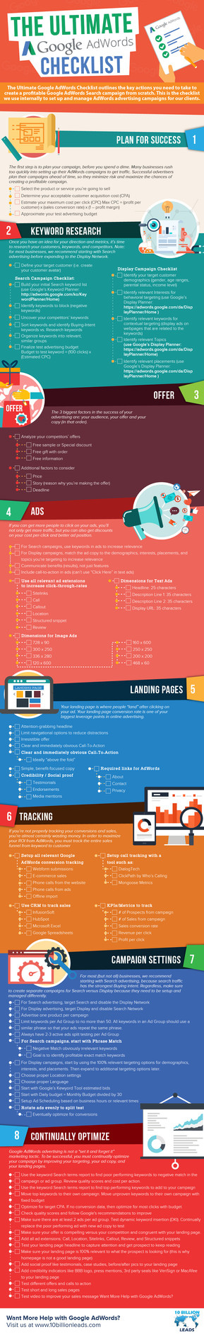 The Ultimate Google AdWords Checklist