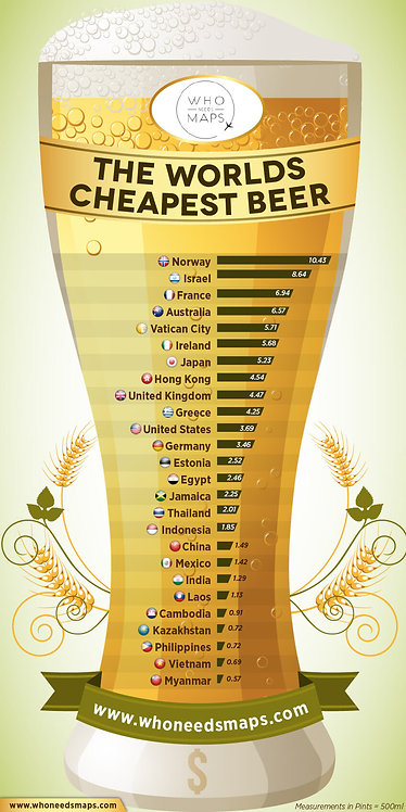 The Worlds Cheapest Beer Infographic