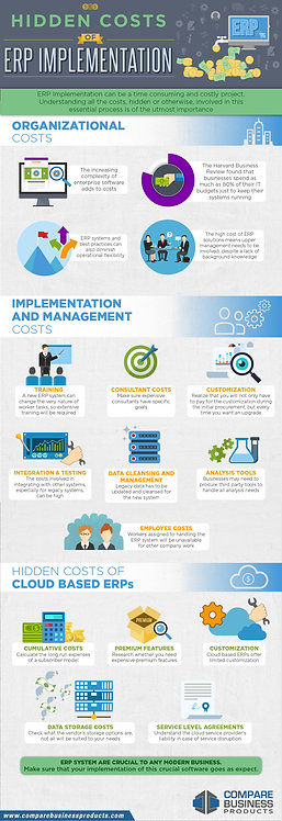 Hidden Costs of Erp Implementation Infographic