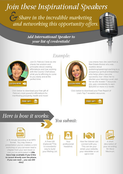Join These Inspirational Speakers Brochures