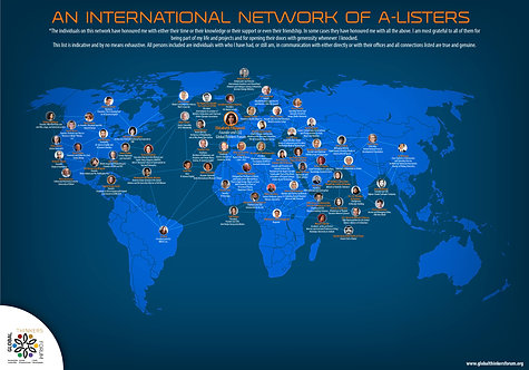 An International Network of A-Listers Infographic