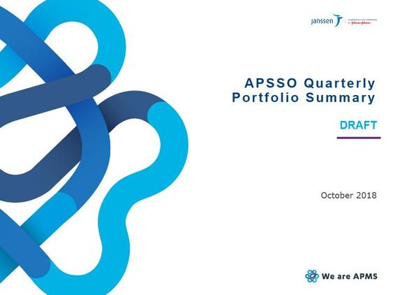 APSSO Quarterly Portfolio Summary