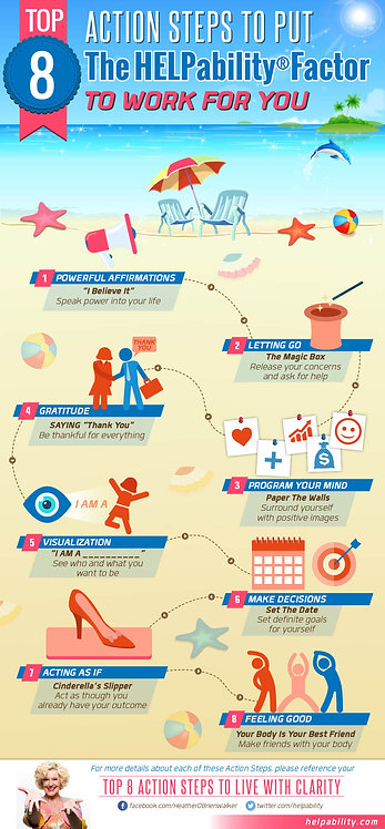Top 8-Action Steps to Put the Helpability Factor to Work for You Infographic