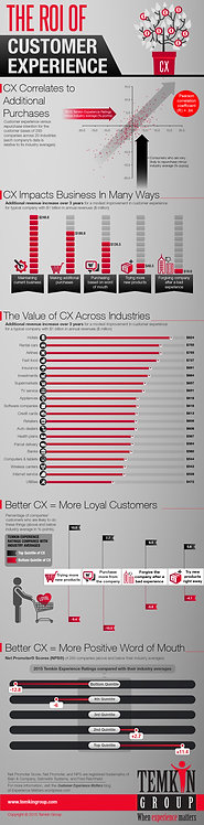 The ROI of Customer Experience Infographic