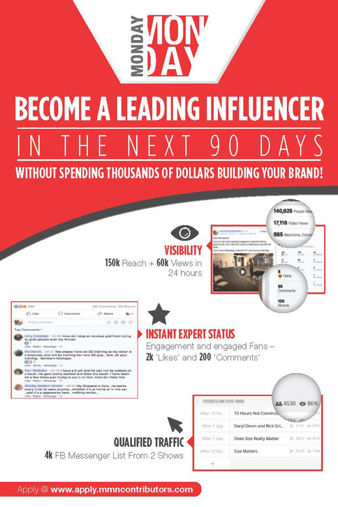 Monday Become A leading Influencer
