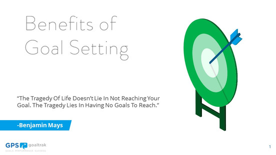 Benefits of Goal Setting