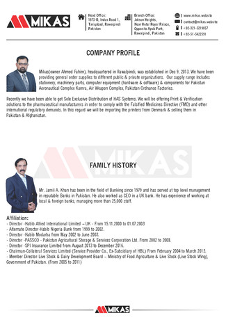 Mikas Brochures