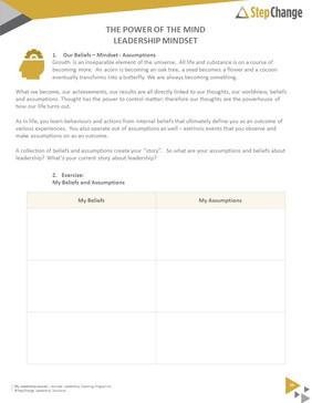 Leadership programme journal - letter size Playbook