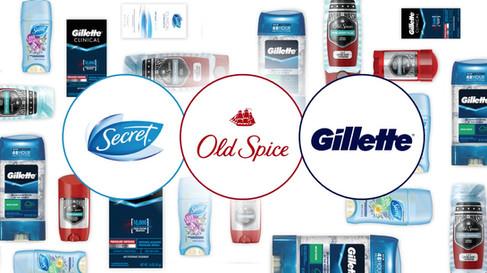 Secret Old Spice Gillette Ivory Olay
