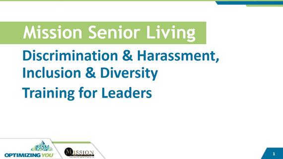 Discrimination & Harassment, Inclusion & Diversity Training for Leaders Presentation