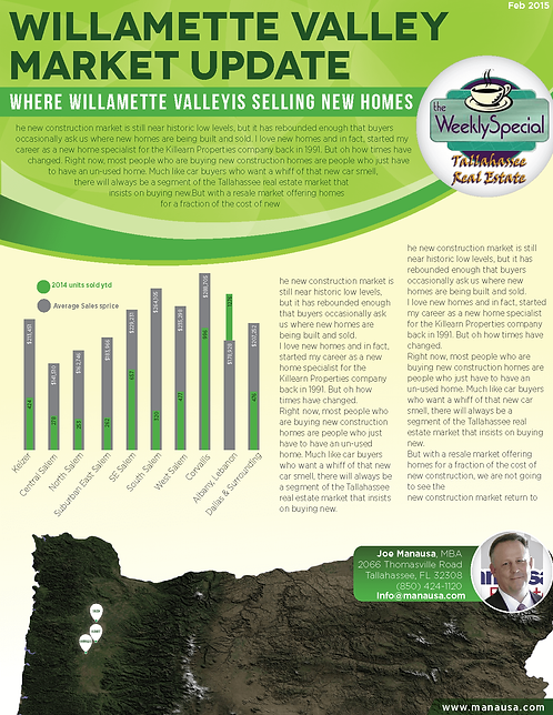 Willamette Valley Market Update Infographic