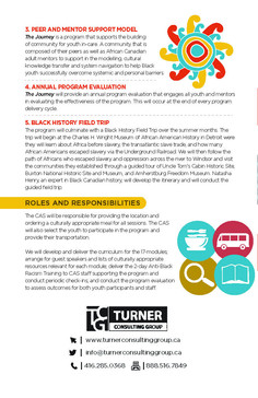 Turner Consulting Group the Journey CAS Black Youth Program