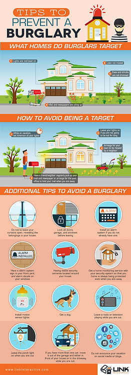 Tips to Prevent a Burglary Infographic