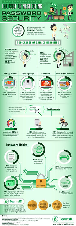 The Cost of Neglecting Password Security Infographic