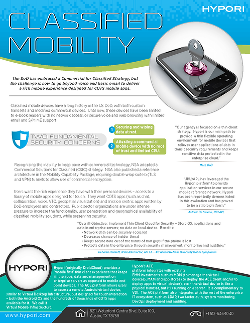 Classified Mobility Infographic