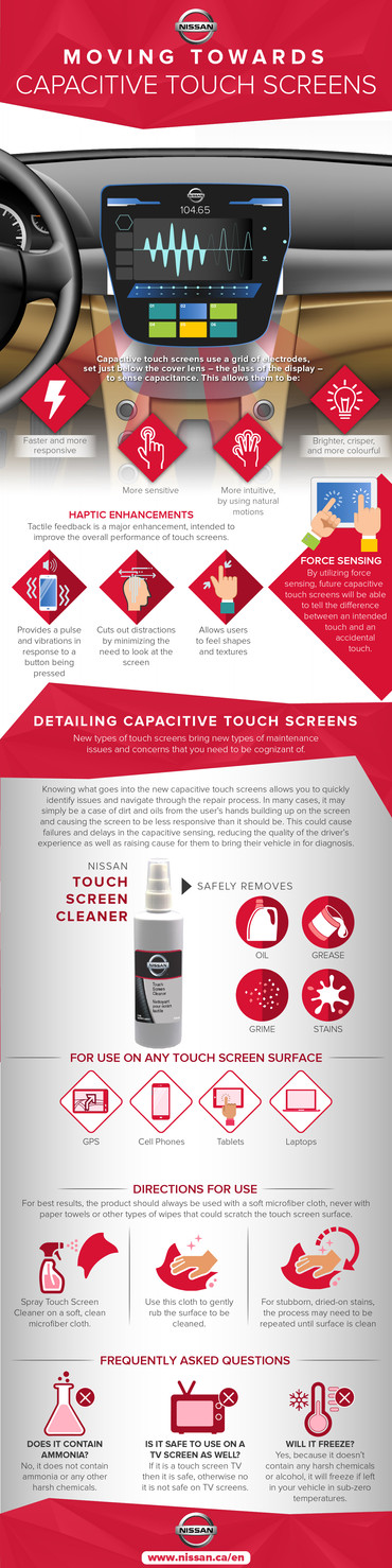 Capacitive Touch Screen NISSAN