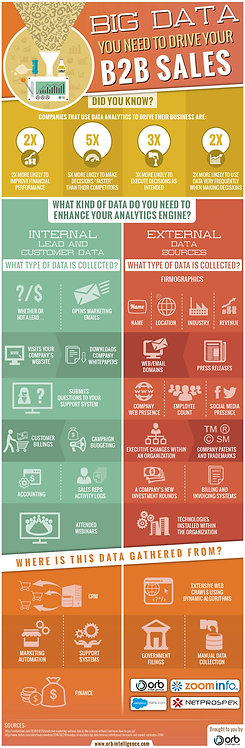 Big Data You Need to Drive Your B2b Sales Infographic