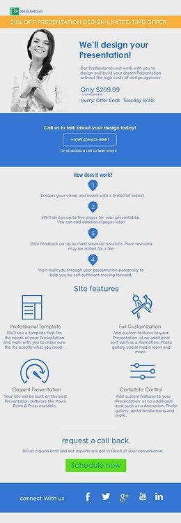 Prezichef.com infographic