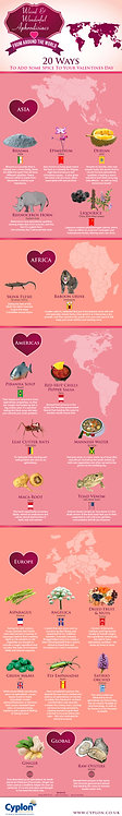 Weird & Wonderful Aphrodisiacs from around the world Infographic