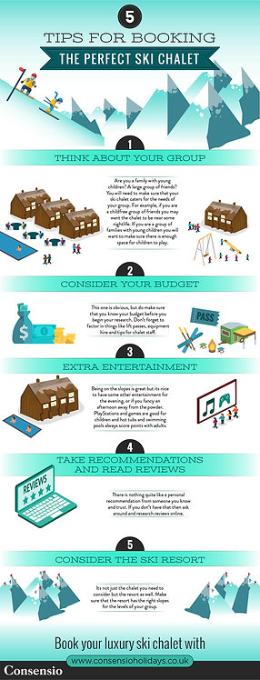 5 Tips for Booking the Perfect Ski Chalet Infographic