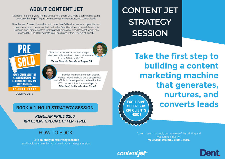 Content Jet Strategy Session