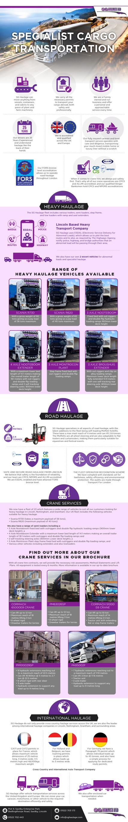 speciallist cargo transportation