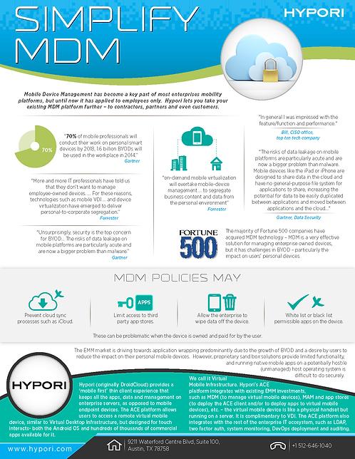 Simplify MDM Infographic
