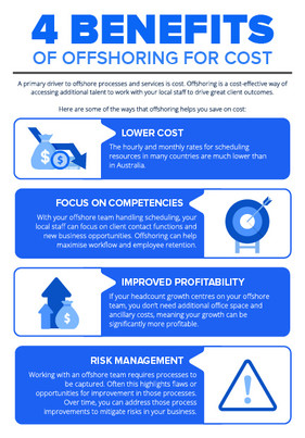 4 benefits of offshoring for cost