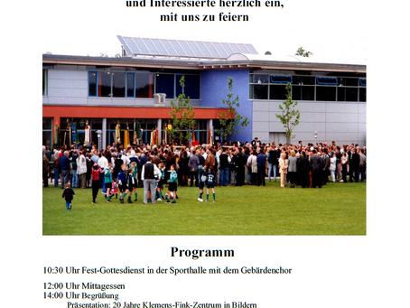 20 Jahre Klemens Fink-Zentrum