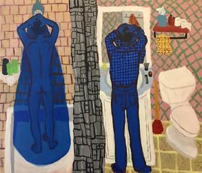 2 Figures in blue