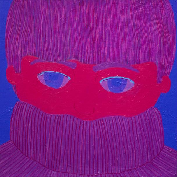Untitled (Purple Bowl Cut)