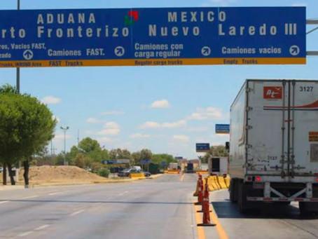 DISMINUYEN LOS CRUCES DE COMERCIO EN LA FRONTERA DE NUEVO LAREDO CON EEUU