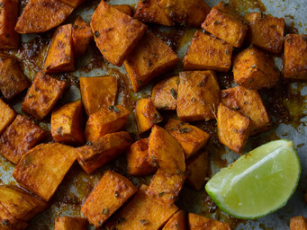 TURMERIC ROASTED SWEET POTATOES