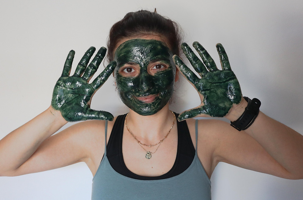 Spirulina Face Mask with Olive Oil for Acne Free Skin
