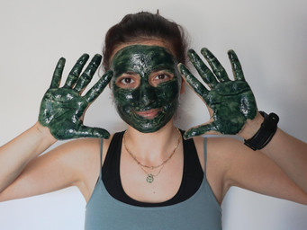 SPIRULINA FACE MASK with OLIVE OIL