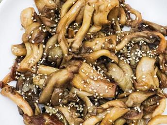 Oyster Mushrooms Asian Style Recipe | Mushroom Side Dish