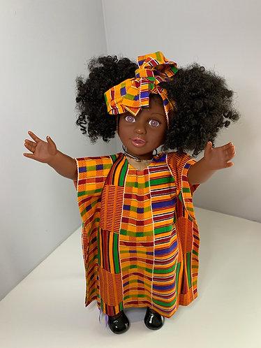 Orange African Print (Dress ONLY)