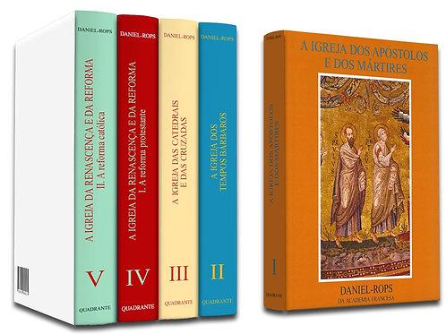 História da Igreja de Cristo Por: Daniel Rops - Coleção completa - 10 volumes