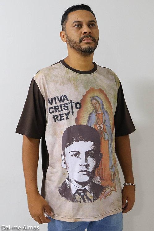Camiseta Nossa Senhora de Guadalupe e São José Luís Sánchez