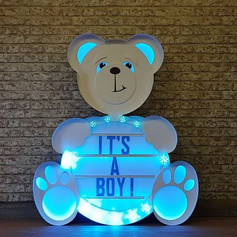 personalised light up bear
