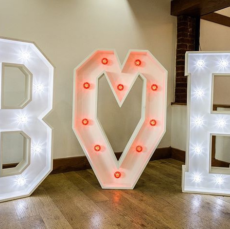 Giant Light up letter hire in Essex